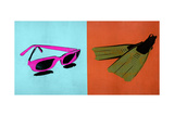 Shades and Fins 2 - Recolor Premium Giclee Print by JB Hall