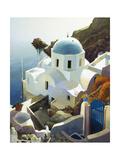 Postmark Santorini Premium Giclee Print by Max Hayslette