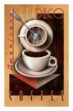 Art déco – Kaffee Giclée-Druck von Michael L. Kungl