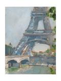 Impressionist View of Paris II Premium Giclee Print by Ethan Harper