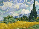 Wheat Field with Cypresses Affischer av Vincent van Gogh