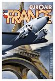 Euroair Frankreich Giclée-Druck von Michael L. Kungl