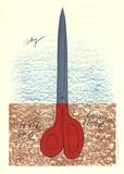 Scissors as Monument (No text) Samlertryk af Claes Oldenburg