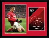 Manchester United - Sanchez Celebration 17/18 Sammlerdruck