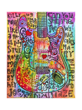 Jimmies Guitar Gicléedruk van Dean Russo