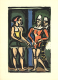 The Parade Serigrafiprint (silkscreentryck) av Georges Rouault