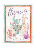 Lovely Llamas II Llamour Lámina giclée prémium