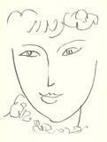 La Pompadour (No text) Collectable Print by Henri Matisse