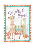 Lovely Llamas IV No Probllama Giclée-Premiumdruck