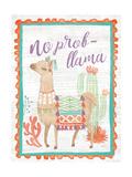 Lovely Llamas IV No Probllama Lámina giclée prémium