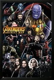 Avengers: Infinity War - Thanos and Avengers Print