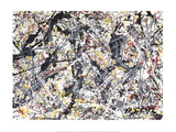 Silver Over Black, White, Yellow & Red Pôsters por Jackson Pollock