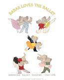 Babar Loves The Ballet Impressão colecionável por Laurent de Brunhoff