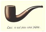 La Trahison des Images (Mini With Border) Plakater af Rene Magritte