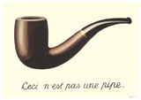 La Trahison des Images (Mini With Border) Posters por Rene Magritte