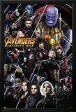 Avengers: Infinity War - Thanos and Avengers Kunstdrucke