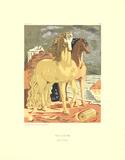 Horses on the Shore Serigrafiprint (silkscreentryck) av Giorgio De Chirico