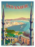 Istanbul, Turkey - Through the Minarets of a Mosque Kunstdrucke von Tar?k Uzmen