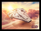 Solo: A Star Wars Story - Millenium Falcon Reproduction encadrée pour collectionneurs