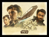 Solo: A Star Wars Story - Montage Reproduction encadrée pour collectionneurs