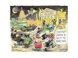 """U.S. Treasury. Looting! Goodness, no. Call it """"tax reform,"""" please. 1%. MAGA. Trump. Art par Matt Wuerker"""