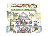 How Washington Works.  The Merry Incumbent Go Round. Art par Matt Wuerker