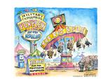 Military industrial Funplex. Now open. Medialand. Tickets. Free rides for all pentagon mouthpieces. Poster par Matt Wuerker