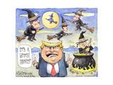 It's a witch hunt!! Manafort. Jared. Flynn. Don Jr. Affiches par Matt Wuerker