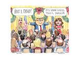 What a crowd! It's your legal team, Donald. Posters par Matt Wuerker