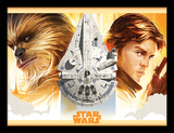 Solo: A Star Wars Story - Falcon Legacy Reproduction encadrée pour collectionneurs