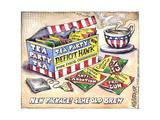Tea Party Deficit Hawk. Pure Fiscal Conservatism. Culture Warrior Tea Party Tea. Affiches par Matt Wuerker