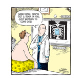 Speed Bump™ - Good news!  You've got a book inside you, just waiting to come out! Poster por Dave Coverly