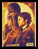 Solo: A Star Wars Story - Han and Chewie Reproduction encadrée pour collectionneurs