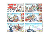 DOWN THE TUBES. How the internet swallowed it all. You know, it's just a series of little tubes. Affiches par Matt Wuerker