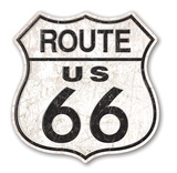 Route 66 - Distressed Blechschild