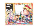 The Art of the Deal. Repeal & Replace by Donald J. Trump. Senate paint. House paint. Poster par Matt Wuerker