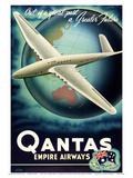 Out of a Great Past, a Greater Future - Qantas Empire Airways (QEA) Juliste tekijänä Rhys Williams
