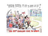 Heigh-ho, heigh-ho, it's off to work we go…  The 115th Congress Goes to Work Affiches par Matt Wuerker