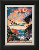Pan American: Fly to the Caribbean by Clipper, c.1940s Poster von M. Von Arenburg