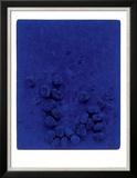 Blaues Schwammrelief (Relief Éponge Bleu: RE19), 1958 Prints by Yves Klein