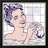 Woman in a Bath Affiches par Roy Lichtenstein