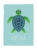 Sea Turtle (Spanish) Lámina giclée prémium por  Kindred Sol Collective
