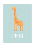Giraffe Lámina giclée prémium por  Kindred Sol Collective