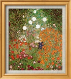 Flowery Garden Poster by Gustav Klimt