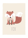 Forest Friends Fox Pósters por  Kindred Sol Collective