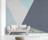 Geometric Mountains Mural de parede