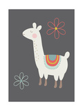 Hey Llama 4 Lámina giclée prémium por  Kindred Sol Collective