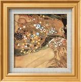 Serpientes acuáticas IV Arte por Gustav Klimt