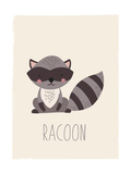 Forest Friends Raccoon Lámina giclée prémium por  Kindred Sol Collective