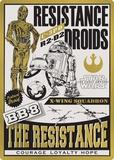 Resistance Droids Tin Sign